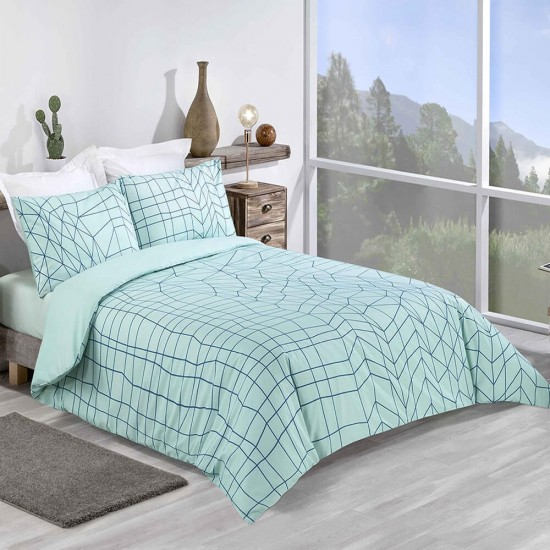 King size Duvet Cover with Pillowcases in Geometric design