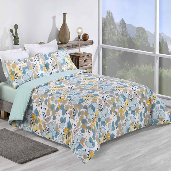 King size Duvet Cover with Pillowcases Mellow Yellow design