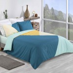 Double Bed Duvet Cover with Pillowcases Triangle Tints