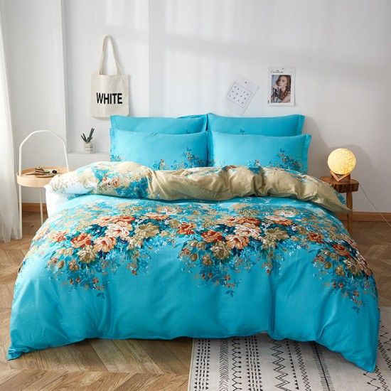 Boutique Style Cotton Duvet Cover with matching Pillowcases King size