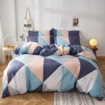Cool Triangles Cotton Duvet Cover king size with matching Pillowcases