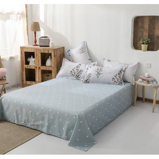 Cool Nature Soft Polyester Fabric Duvet Cover with Pillowcases and Bedsheet