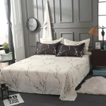 Geaga Soft Polyester Fabric Double Duvet Cover with Pillowcases and Bedsheet