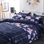Goodnight Soft Polyester Fabric Double Duvet Cover with Pillowcases and Bedsheet