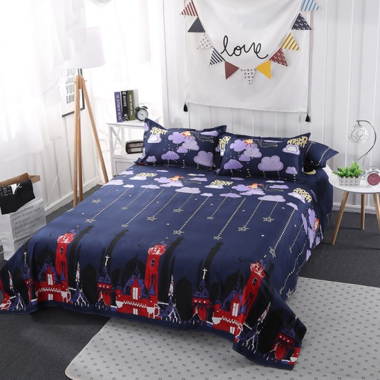 Goodnight Soft Polyester Fabric Duvet Cover with Pillowcases and Bedsheet