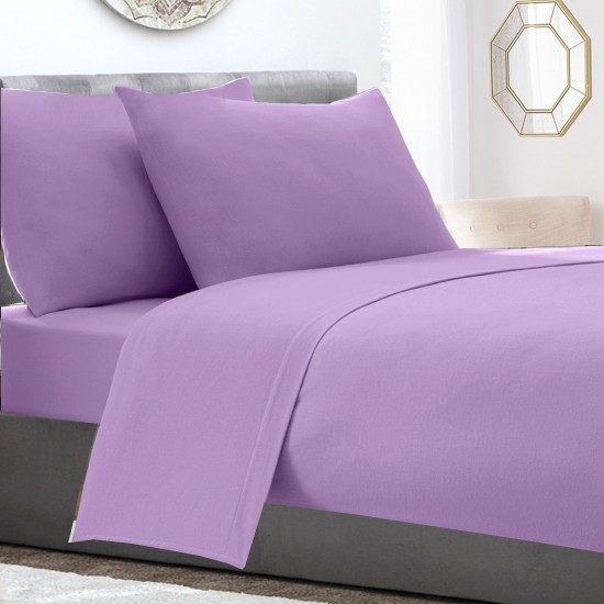 Lilac colour Poly Cotton extra deep single bed Fitted Sheet