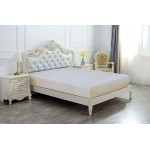 Super King Size Microfabric Fitted Sheet, Beige 182x200cm + 40cm deep