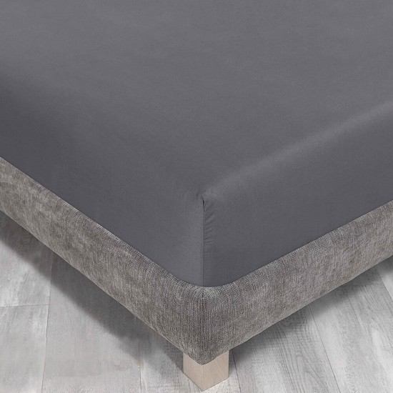 King Size Fitted Sheet in Charcoal colour