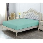 Super King Size Microfabric Fitted Sheet, Grey Green 182x200cm + 40cm deep