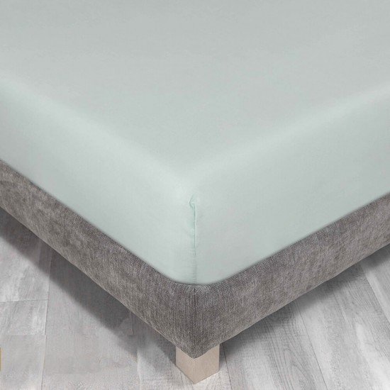 Queen size bed Fitted Sheet in Mint Colour