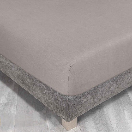 Queen size bed Fitted Sheet in Light Mocha