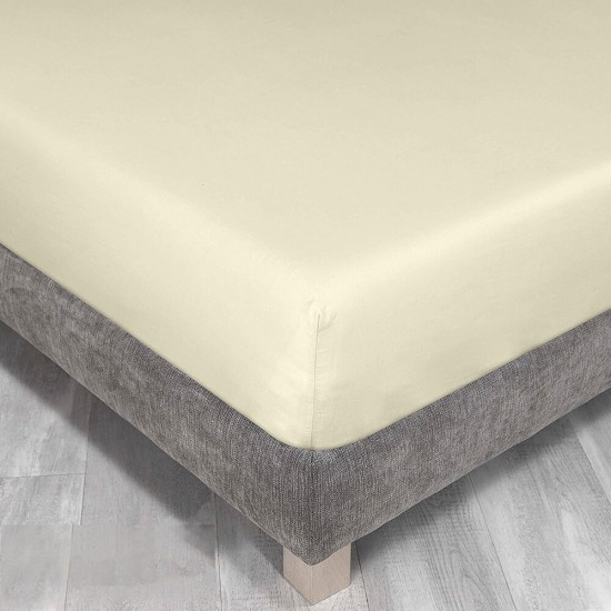 King Size Fitted Sheet Pale Lemon