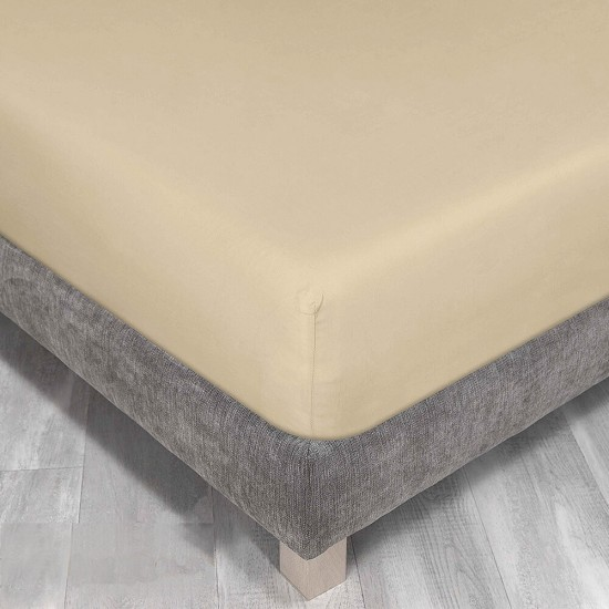 King Size Fitted Sheet Pale Yellow