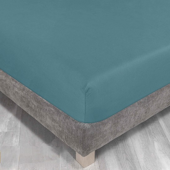 King Size Fitted Sheet in Teal colour