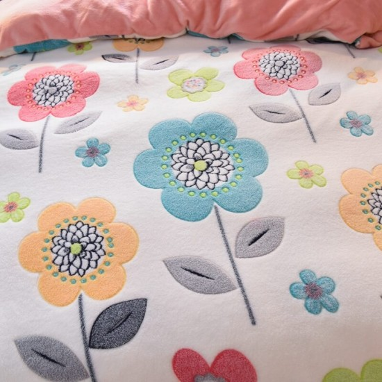Bright Day Duvet Cover Double size with matching Pillowcases Soft Fleece