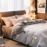 Mushrooms Duvet Cover King size with matching Pillowcases Soft Fleece