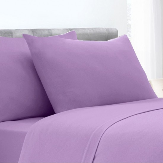 Lilac Poly Cotton Set of 2 Pillowcases