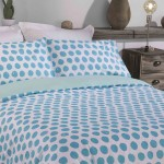 Double Bed Duvet Cover with Pillowcases Green Apple