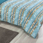 Double Bed Duvet Cover with Pillowcases Beach Huts Design