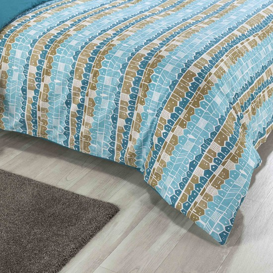 King size bed Duvet Cover with Pillowcases Beach Huts Design