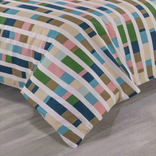 Double Bed Duvet Cover with Pillowcases Colour Code