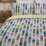 King size bed Duvet Cover with Pillowcases Colour Code Design