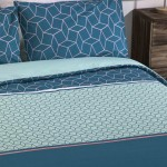 Double Bed Duvet Cover with Pillowcases Honeycomb