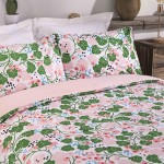 Double Bed Duvet Cover with Pillowcases IVY Pink