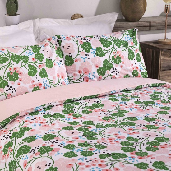 King size bed Duvet Cover with Pillowcases IVY Pink Design