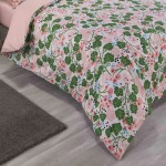 Super King Duvet cover with Pillowcases IVY Pink design