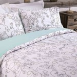 King size bed Duvet Cover with Pillowcases Leaf Maze Design
