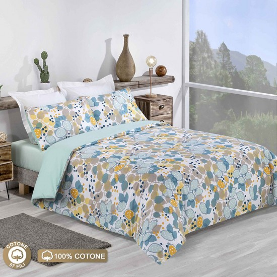 Double Bed Duvet Cover with Pillowcases Mellow Yellow
