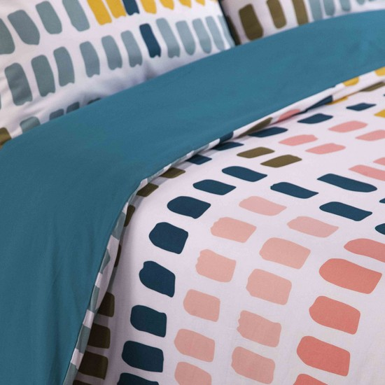 Double Bed Duvet Cover with Pillowcases Paint Palette