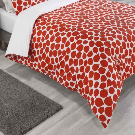 Double Bed Duvet Cover with Pillowcases Rose Petal