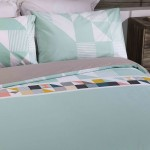 Double Bed Duvet Cover with Pillowcases Spring Sprung Design
