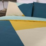 Super King size Duvet cover with Pillowcases Triangles design