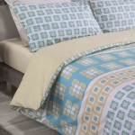 Super King size Duvet cover with Pillowcases Vintage Tile design