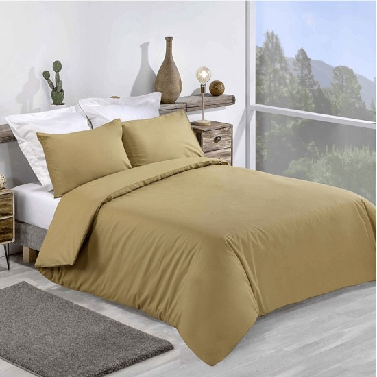 Super King size Premium Quality Duvet set in Khaki colour