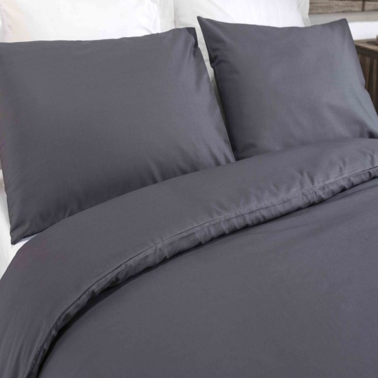 King size Standard Duvet Cover with Pillowcases Charcoal