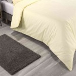 Double Bed Premium Duvet Cover with Pillowcases Pale Lemon