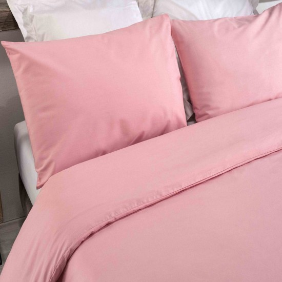 King size Standard Duvet Cover with Pillowcases in Quartz Pink