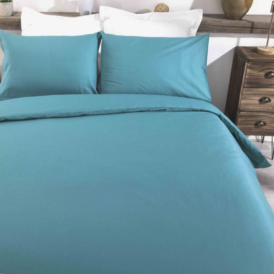 King size Standard Duvet Cover with Pillowcases Sea Green colour