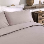 King size Premium Duvet Cover with Pillowcases Light Mocha