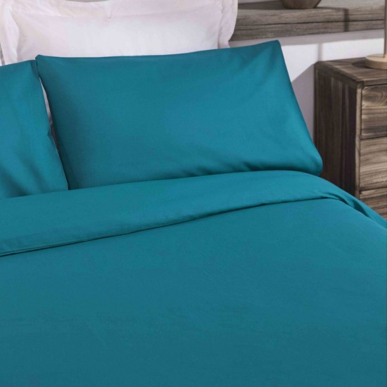 King size Standard Duvet Cover with Pillowcases in Teal colour