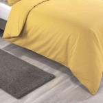 Super King size Standard Duvet Cover with Pillowcases Yoke Yellow