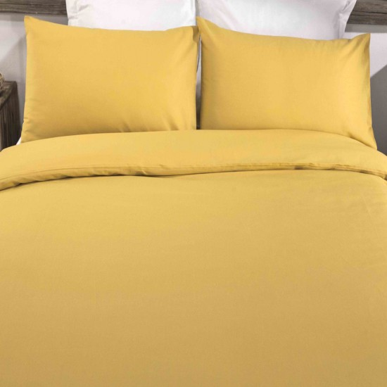 King size Standard Duvet Cover with Pillowcases Yoke Yellow colour