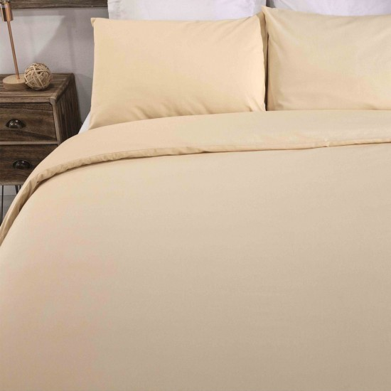 King size Standard Duvet cover with Pillowcases in Pale Yellow