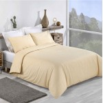 Super King size Premium Quality Duvet set in Pale Yellow