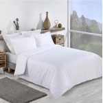 Double Bed Premium Duvet Cover with Pillowcases in White