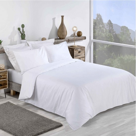 Super King size Standard White Duvet Cover with Pillowcases